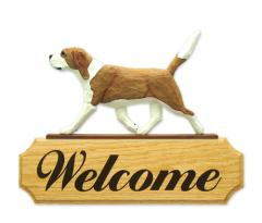 Beagle Dog Welcome Sign
