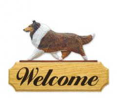 Collie Dog Welcome Sign
