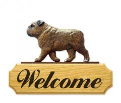 English Bulldog Dog Welcome Sign