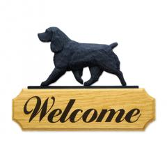 Field Spaniel Dog Welcome Sign