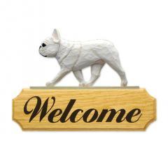 French Bulldog Dog Welcome Sign