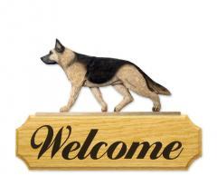 German Shepherd Dog Welcome Sign