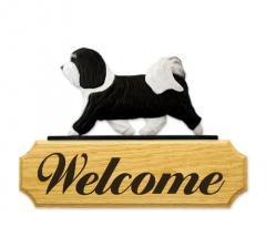 Havanese Dog Welcome Sign