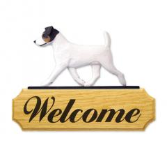 Jack Russell Terrier Dog Welcome Sign