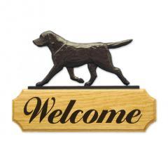 Labrador Retriever Dog Welcome Sign