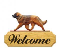 Leonberger Dog Welcome Sign