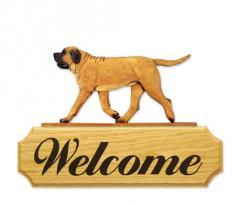 Mastiff Dog Welcome Sign