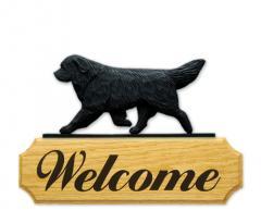 Newfoundland Dog Welcome Sign