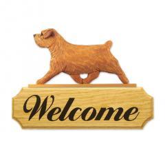 Norfolk Terrier Dog Welcome Sign