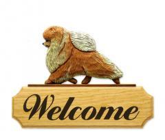Pomeranian Dog Welcome Sign