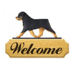 Rottweiler Dog Welcome Sign