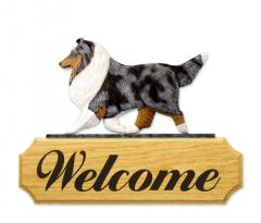 Shetland Sheepdog Dog Welcome Sign