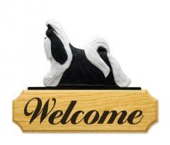 Shih Tzu Dog Welcome Sign