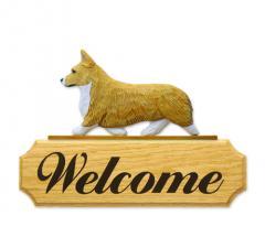 Welsh Corgi, Pembroke Dog Welcome Sign