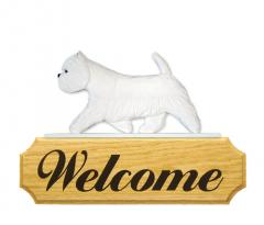 West Highland Terrier Dog Welcome Sign