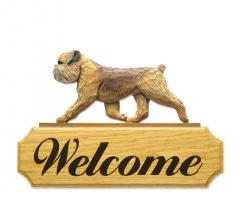 Brussels Griffon Dog Welcome Sign