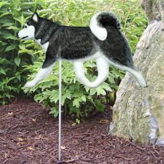 Siberian Husky Dog Garden Stake
