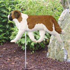 Saint Bernard Dog Garden Stake