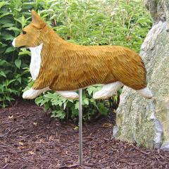 Pembroke Welsh Corgi Dog Garden Stake