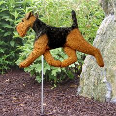 Welsh Terrier Dog Garden Stake