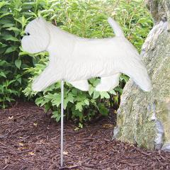 West Highland Terrier Dog Garden Stake
