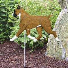 Boxer Dog Garden Stake
