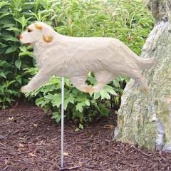 Clumber Spaniel Dog Garden Stake