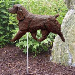 Field Spaniel Dog Garden Stake