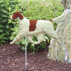 Irish Red and White Setter Dog Garden Stake