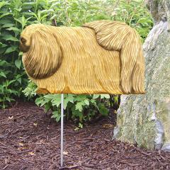 Pekingese Dog Garden Stake