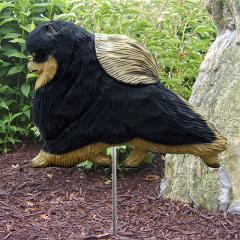 Pomeranian Dog Garden Stake