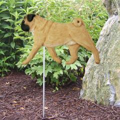 Pug Dog Garden Stake
