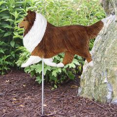 Shetland Sheepdog Dog Garden Stake
