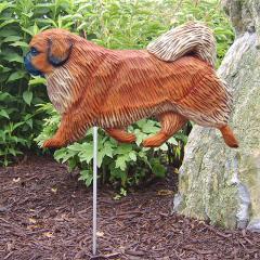 Tibetan Spaniel Dog Garden Stake