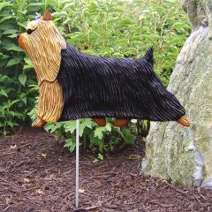 Yorkshire Terrier Dog Garden Stake