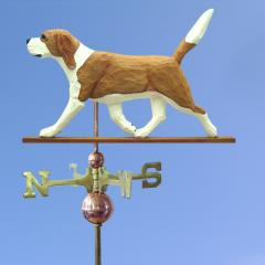 Beagle Dog Weathervane shown in Red and White