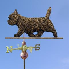 Cairn Terrier Dog Weathervane shown in Black Brindle