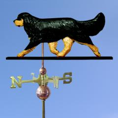 Cavalier King Charles Spaniel Dog Weathervane shown in Black and Tan