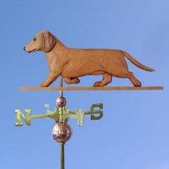 Dachshund, Smooth Dog Weathervane shown in Red