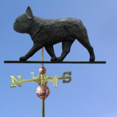 French Bulldog Dog Weathervane shown in Black