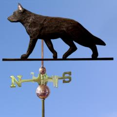 German Shepherd Dog Weathervane shown in Black