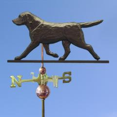 Labrador Retriever Dog Weathervane shown in Black