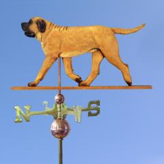 Mastiff Dog Weathervane shown in Apricot