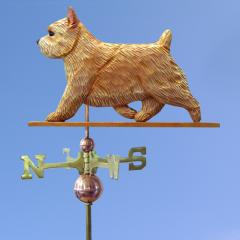 Norwich Terrier Dog Weathervane shown in Wheaten