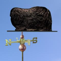 Pekingese Dog Weathervane shown in Black