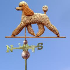 Poodle Dog Weathervane shown in Apricot