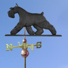 Miniature Schnauzer Dog Weathervane shown in Black