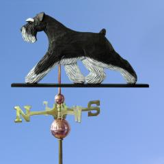 Schnauzer, Natural Dog Weathervane shown in Black and Silver