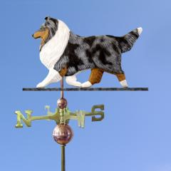 Shetland Sheepdog Dog Weathervane shown in Blue Merle