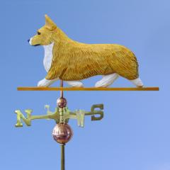 Pembroke Welsh Corgi Dog Weathervane shown in Blonde